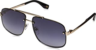 Marc Jacobs Marc 318/S 2M2 9O Black Gold Metal Aviator Sunglasses Dark Grey Gradient Lens