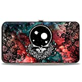 Buckle-Down womens Buckle-down Hinge - Space Your Face/Galaxy Wallet, Multicolor, 7 x 4 US