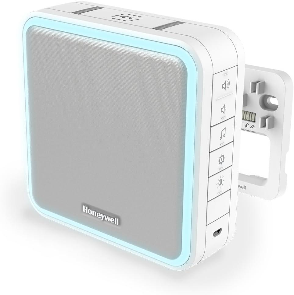 Honeywell Home DW915S Serie 9 Tragbar, verdrahteter oder Funk-LED-Gong (weiß) - elektronischer Türgong Empfehlung