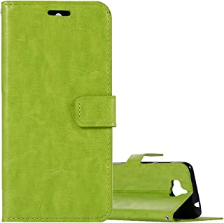 For Huawei Y5 (2017) Crazy Horse Texture Horizontal Flip Leather Case with Holder/Wallet WBeiilcase (Color : Green)