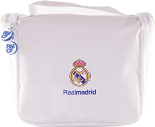 Real Madrid Neceser de Viaje - Producto Oficial del Equipo con Percha para Colgar y Varias Alturas para Guardar Artículos...