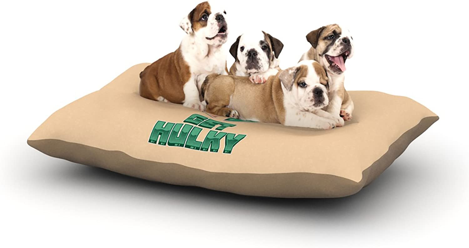 Kess InHouse Roberlan Get Hulky  Avengers Dog Bed, 30 by 40Inch