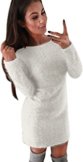 Long Sleeve Dress, Sweater Women Winter Knit Bodycon Slim Mini Dress