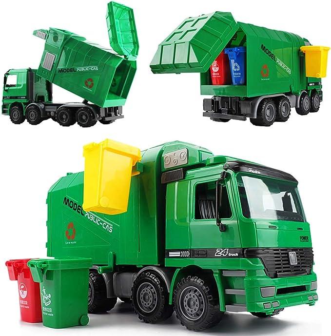 275 opinioni per deAO Camion Portacontainer con Funzione Idraulica per Sollevare e Svuotare