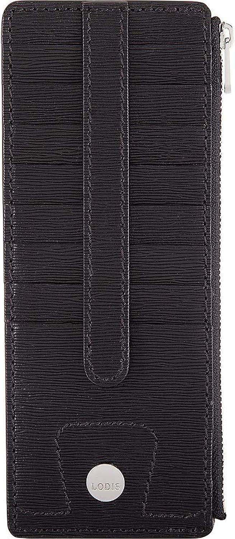 Lodis Bel Air RFID Credit Card Case with Zipper Pocket (Black)