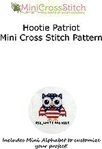 Hootie Patriot Mini Cross Stitch Pattern