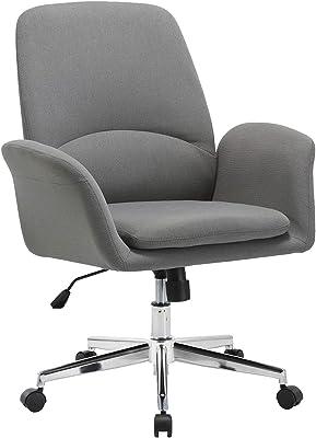 Amazon.com: Homcom moderno tela a casa silla de oficina con ...