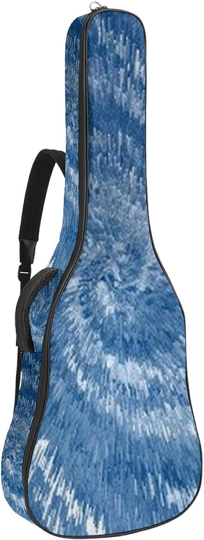 Bolsa de guitarra acústica Storm Inhalación impresión personalizada tamaño completo caja de guitarra Gig bolsa con asa acolchada correa de hombro