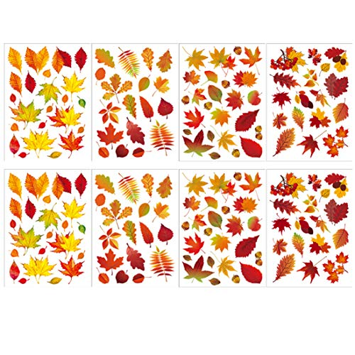 window decals leaves - 8