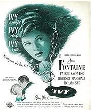 Ivy (1947) ~ Loving the Classics ~ Joan Fontaine