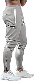 Nuevo Pantalones Deportivos Gym Hombre Pantalones de Chándal Ajustados Elástico Pantalones Cargo con Hebilla de Toalla Mod...