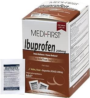 Medi-First Ibuprofen, 250 Per Box, 2 Tablets Per Packet