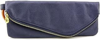 Mud Pie Women's Fashion Leather Cuff Clutch - Navy 812069N