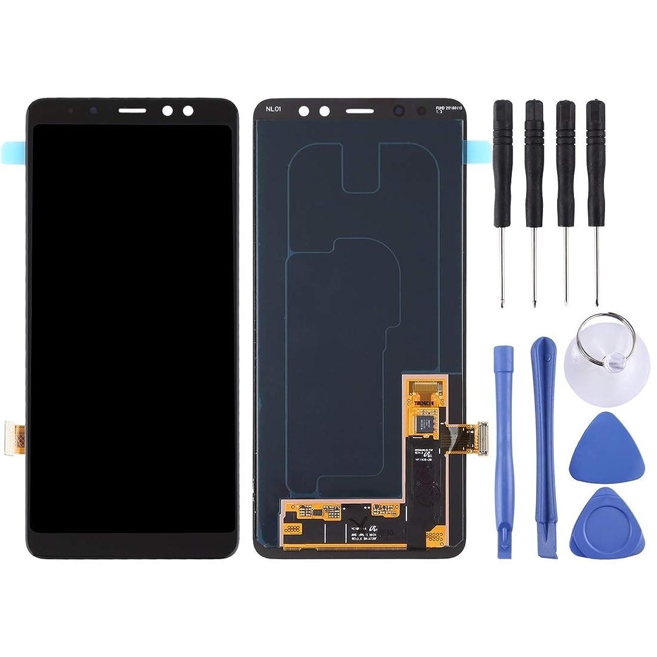 付添人一般的に言えば帝国主義スクリーン組立 ギャラクシーA8 +(2018)/ A730(ブラック)のための電話交換部品液晶画面とデジタイザのフルアセンブリ (色 : Black)