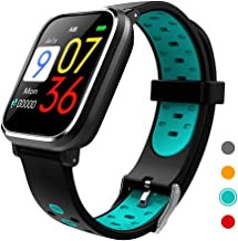 CRATEC W5 Fitness Tracker Heart Rate Sleep Monitor Blood Pressure IP67 Waterproof Smart Watch, Long Battery Life Bluetooth Activity Tracker, Large Screen Sports Band Men Women and Students