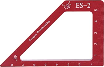 Rechte Liniaal, Houtbewerkingsliniaal, 90 & 45 Graden Aluminiumlegering Nauwkeurige Hoge Precisie Lijn Scriber Markering G...