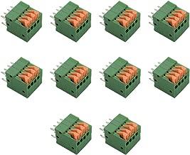 Hxchen KF141V 8P(2 x 4Pin) 2.54mm Pitch Spring Type PCB Terminal Blocks Connector Green - (10 Pcs)