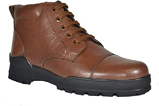 Tsf- Formal Police Lace Up Boot (Tan)