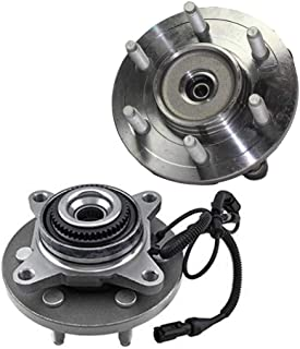 Detroit Axle - Pair (2) 4WD Front Wheel Bearing and Hub Assembly for 2009-2010 Ford F-150 4x4