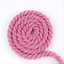 WLLBT 3 Strengen Twisted Katoen Gevlochten Katoen Draad Touw Diy Bag Trekkoord Riem Decoratie Accessoires 10Mx10mm roze