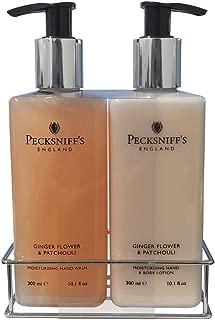 Pecksniff's Ginger Flower & Patchouli Nourishing Hand Wash & Body Lotion Set 10.1 oz