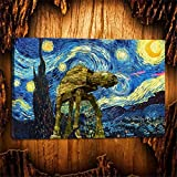 Canvas Prints for Home Decoration Roon Wall Art Pictures for living room Film Poster Star Wars Vincent Van Gogh Starry Night (24x36inch-Unframed)