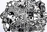240 St. Aufkleber Schwarz-Weiß Graffiti Decals Stickers für Auto Skateboard Reisekoffer Motor-/Fahrrad Boot Computer/Laptop/Tablet Kinderzimmer uvm., fast auf alle glatten u. sauberen...