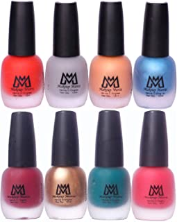Makeup Mania Premium Nail Polish Set, Velvet Matte Nail Paint Combo of 8 Pcs, Perfect Gift for Girls and Women (Set No. 17-69), Multicolor, 600 g