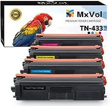 MxVol Compatible Brother TN-433 TN-431 TN433 Toner Cartridges 4-Pack (TN433BK, TN433C, TN433M, TN433Y), High Yield Toner use for Brother HL-L8360CDW HL-L8260CDW MFC-L8610CDW MFC-L8900CDW Printer
