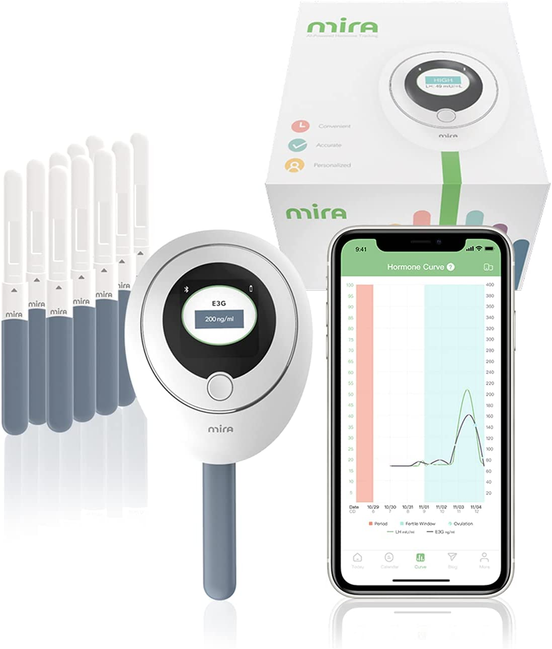 Mira 正規激安 Fertility Plus Tracking 新作 Monitor Kit with LH Estrogen 10 O +