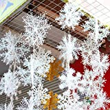 Boutique de Hanks HNZZ Flocon De Neige De Décoration De Noël, Élégant Et Haut De Gamme Flocon De Neige De Décoration De Noël, Mettre La Série De Flocon De Neige En Plastique 3D, Bannière Décoratif ~ Y