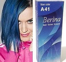 Berina Permanent Hair Dye Color Cream # A41 Blue Made in Thailand