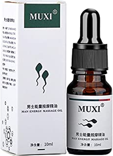 Men Energy Massage Essential Oil for Sex, Enlarge Massage Enlargement Oils Permanent Thickening Growth Pills Increase Dick Liquid Men Health Care Enlarge Oil Delay Performance Boost Strength (10ml)