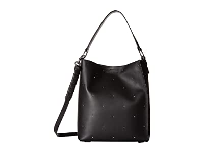 AllSaints Kathi Small North/South Tote (Black) Handbags