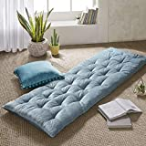 Intelligent Design Edelia Foldable Poly Chenille Lounge Floor Pillow Cushion Tufted Seat f...
