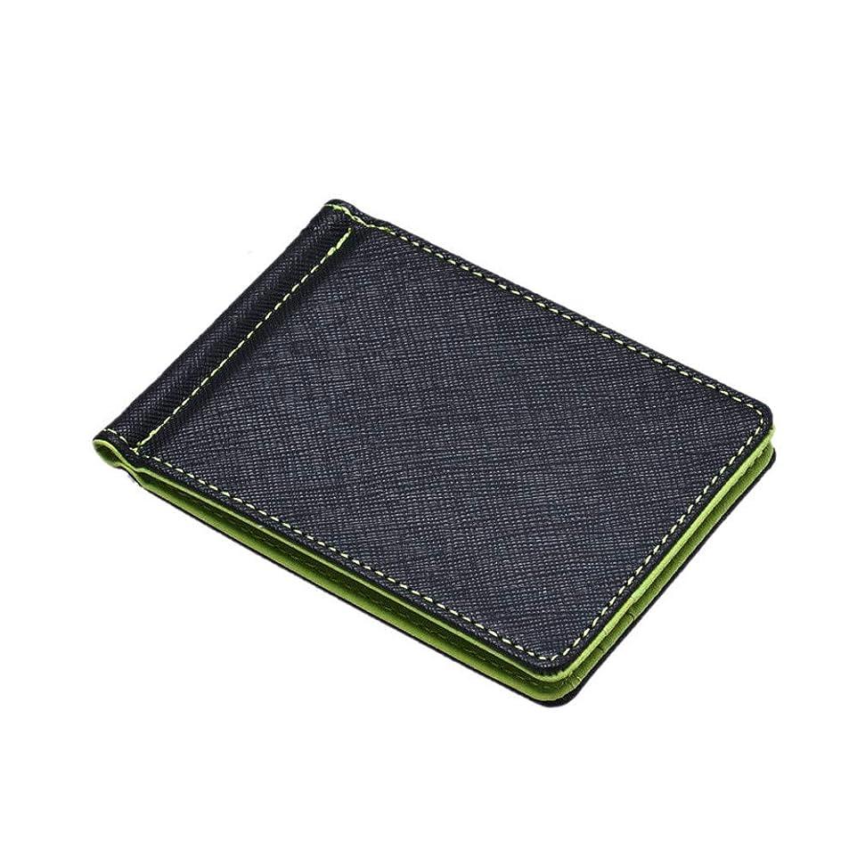 退屈自発的評価可能メンズ 財布 二つ折り 小銭入れなし Dafanet L字型ファスナー 人気 紳士財布 短財布 カード 財布 追加 カードたくさん入る 大容量 誕生日 父の日 プレゼント (01グリーン)