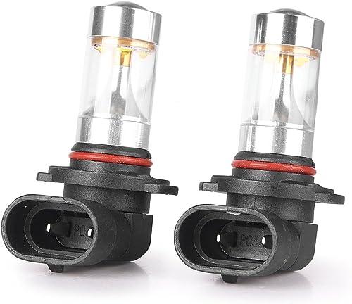 Mallofusa Pair High Power LED Fog Light Bulb DRL Driving Lamps Bulbs 30W, White 6000K, H10