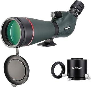 SVBONY SV406P フィールドスコープ HD デュアルフォーカス 20-60x80mm カメラアダプター 狩猟用 ターゲットシューティング バードウォッチング
