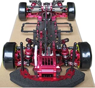 Hobbypower 1/10 Alloy & Carbon D3 4WD Drift Racing RC Model Car Frame Kit with Front One Way