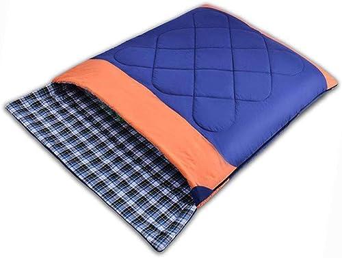 JTYX Sacs de Couchage Adultes Deux Personnes Couple Printemps Hiver Réchauffer épaissi Camping en Plein Air Coton Sac De Couchage
