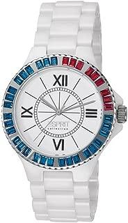 Esprit Collection Women's Quartz Watch Isis Tetra Ruby El101322F12, White Band, Analog Display