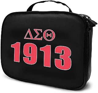 Delta Sigma Theta Cosmetic Bag Portable Makeup Pouch Travel Hanging Organizer Bag for Women Girls