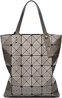 Women's Shoulder Tote 6X7 Gray Laser Folding Bag Geometric Bag Shoulder Tote