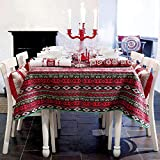 MCZ Cotton Red Stripes Moderne Tischdecke für Tischdecke Tischdecke Party Bankett Esstischdecke Esstisch Couchtisch Tischdecke Tischdecke (90 * 90cm)