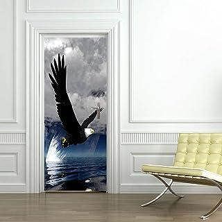 Sticker Porte Eagle Proie Imperméable Autocollants De Porte 3D Auto-Adhésifs Chambre Salon Muraux Muraux Décoratifs Sticke...