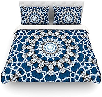 KESS InHouse Famenxt Confetti Dots Mandala Multicolor Abstract Queen Comforter 88 X 88