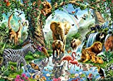 Mini Puzzles de 1000 Piezas en Miniatura DIYpara Adultos Animal de la Selva Tropical de cartón Resistente Desafío de Ejercicio Cerebral Juego de Alta dificultad Regalo para Niño 38 * 26cm