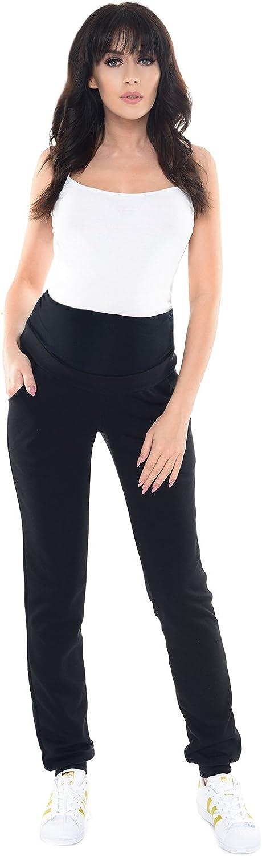 Pantalones de Maternidad Embarazadas Premama Pantal/ón Jogger Mujeres 1321