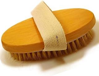 Glamza Mini cepillo corporal para piel seca con correa de palma, 1 unidad