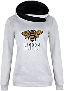 Womens Christmas Casual Long Sleeved Round Neck Santa Printed Gradual Pullover Sweatshirt Tops T-Shirt Blouse (S-2XL)